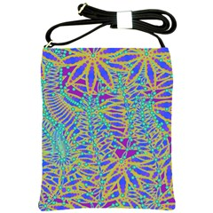 Abstract Floral Background Shoulder Sling Bags