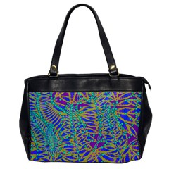 Abstract Floral Background Office Handbags