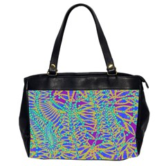 Abstract Floral Background Office Handbags (2 Sides)