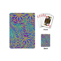 Abstract Floral Background Playing Cards (Mini)