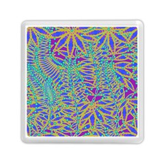 Abstract Floral Background Memory Card Reader (Square)
