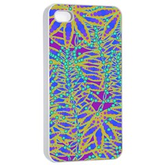 Abstract Floral Background Apple iPhone 4/4s Seamless Case (White)