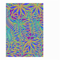 Abstract Floral Background Small Garden Flag (Two Sides)