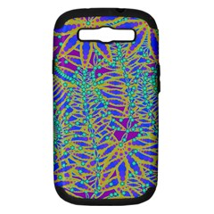 Abstract Floral Background Samsung Galaxy S Iii Hardshell Case (pc+silicone)