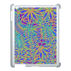 Abstract Floral Background Apple Ipad 3/4 Case (white)