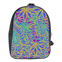 Abstract Floral Background School Bags (xl)