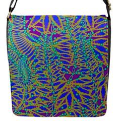 Abstract Floral Background Flap Messenger Bag (s)