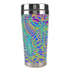 Abstract Floral Background Stainless Steel Travel Tumblers
