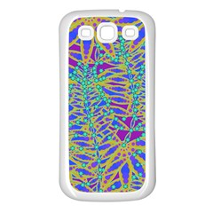 Abstract Floral Background Samsung Galaxy S3 Back Case (white)