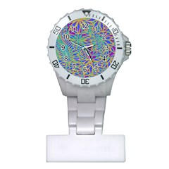 Abstract Floral Background Plastic Nurses Watch