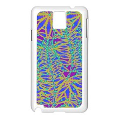 Abstract Floral Background Samsung Galaxy Note 3 N9005 Case (white)