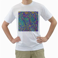 Abstract Floral Background Men s T Shirt (white)