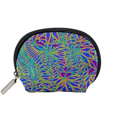 Abstract Floral Background Accessory Pouches (Small)