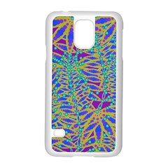Abstract Floral Background Samsung Galaxy S5 Case (white)