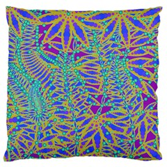 Abstract Floral Background Large Flano Cushion Case (one Side)