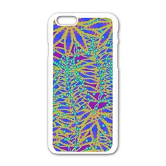 Abstract Floral Background Apple Iphone 6/6s White Enamel Case