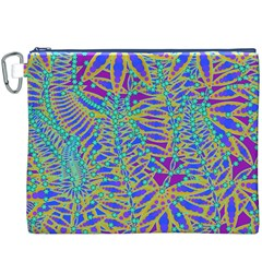 Abstract Floral Background Canvas Cosmetic Bag (xxxl)