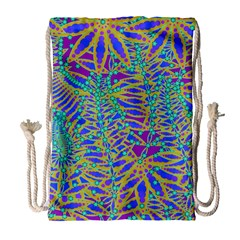 Abstract Floral Background Drawstring Bag (large)