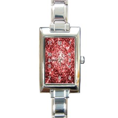 Water Drops Red Rectangle Italian Charm Watch