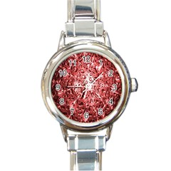 Water Drops Red Round Italian Charm Watch