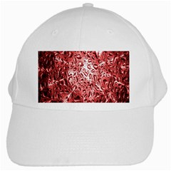 Water Drops Red White Cap