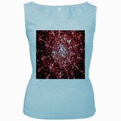 Water Drops Red Women s Baby Blue Tank Top