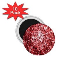 Water Drops Red 1.75  Magnets (10 pack)