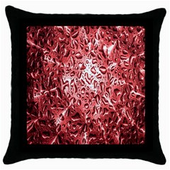 Water Drops Red Throw Pillow Case (Black)