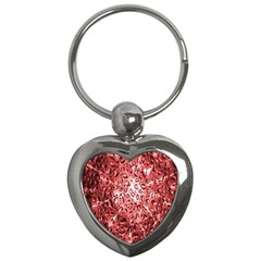 Water Drops Red Key Chains (Heart)