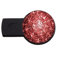 Water Drops Red USB Flash Drive Round (2 GB)