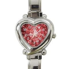 Water Drops Red Heart Italian Charm Watch