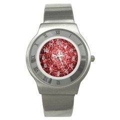 Water Drops Red Stainless Steel Watch