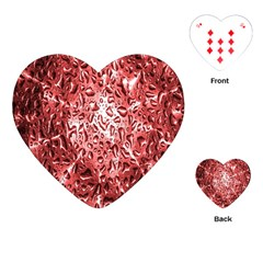 Water Drops Red Playing Cards (heart)