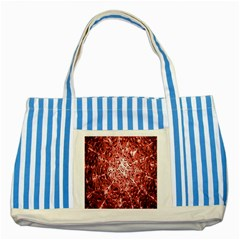 Water Drops Red Striped Blue Tote Bag