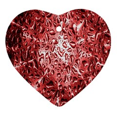 Water Drops Red Heart Ornament (Two Sides)