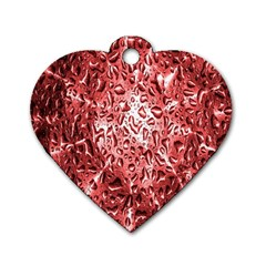 Water Drops Red Dog Tag Heart (one Side)