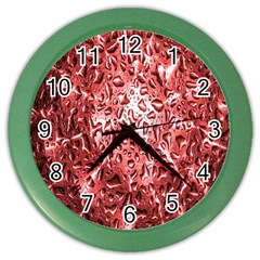 Water Drops Red Color Wall Clocks