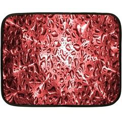 Water Drops Red Double Sided Fleece Blanket (Mini)