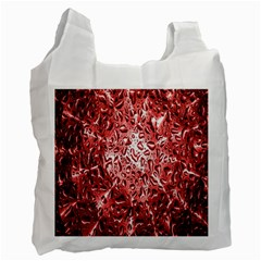Water Drops Red Recycle Bag (One Side)