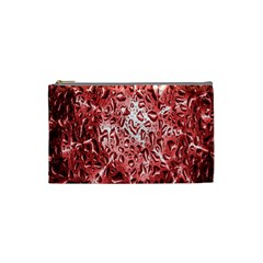 Water Drops Red Cosmetic Bag (Small)