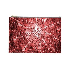Water Drops Red Cosmetic Bag (Large)