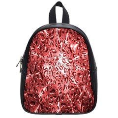 Water Drops Red School Bags (Small)