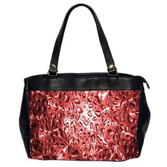 Water Drops Red Office Handbags (2 Sides)
