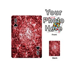 Water Drops Red Playing Cards 54 (Mini)