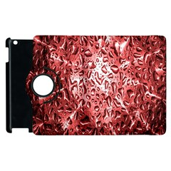 Water Drops Red Apple iPad 3/4 Flip 360 Case