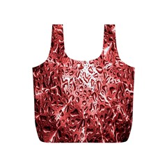 Water Drops Red Full Print Recycle Bags (S)