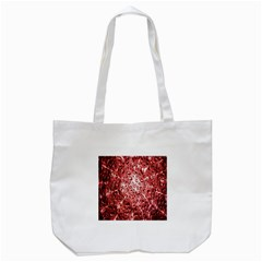 Water Drops Red Tote Bag (White)