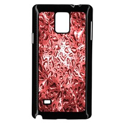 Water Drops Red Samsung Galaxy Note 4 Case (black)
