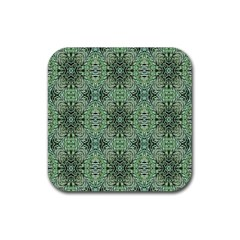 Seamless Abstraction Wallpaper Digital Computer Graphic Rubber Square Coaster (4 pack)