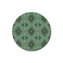 Seamless Abstraction Wallpaper Digital Computer Graphic Rubber Coaster (Round)